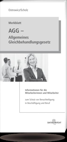 Merkblatt Allgemeines Gleichbehandlungsgesetz (AGG) - Format DIN lang