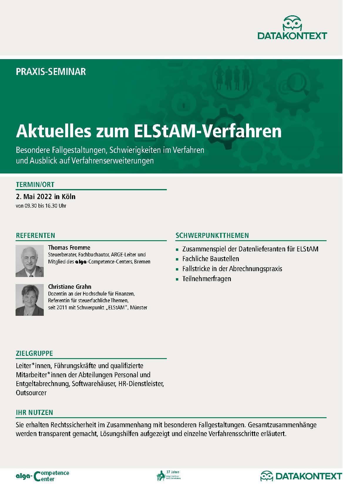 Aktuelles zum ELStAM-Verfahren