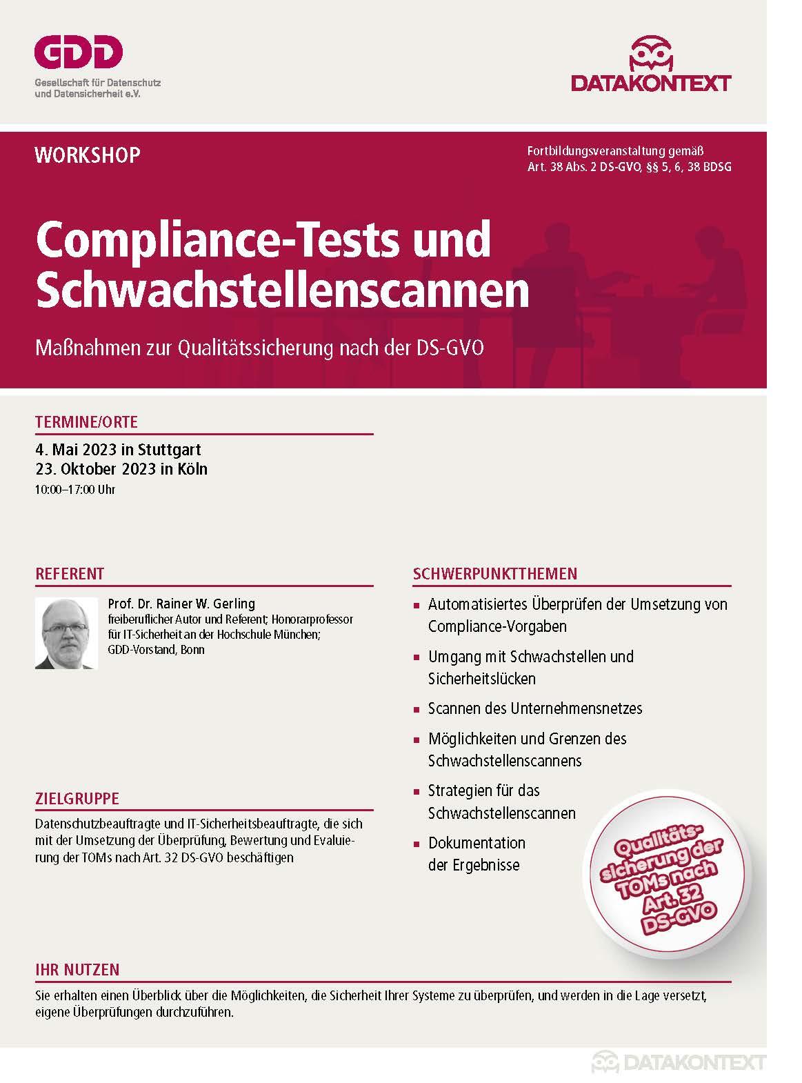 Compliance-Tests und Schwachstellenscannen