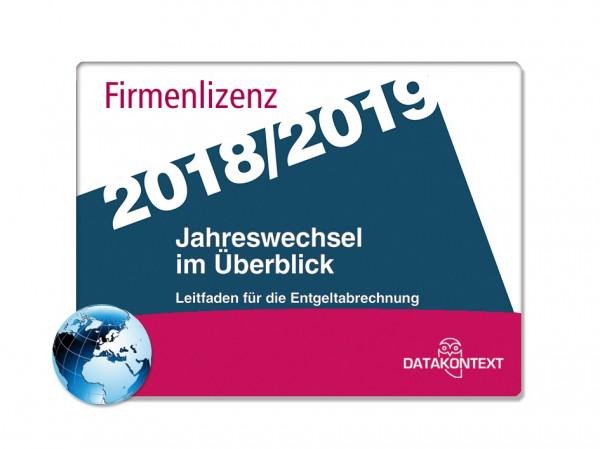 Jahreswechsel im Überblick 2018/2019 (PDF-Firmenlizenz)