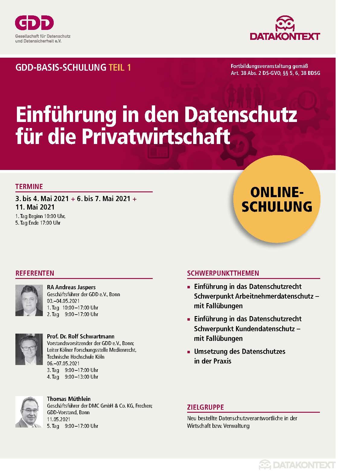 Teil 1: Einführung in den Datenschutz für die Privatwirtschaft