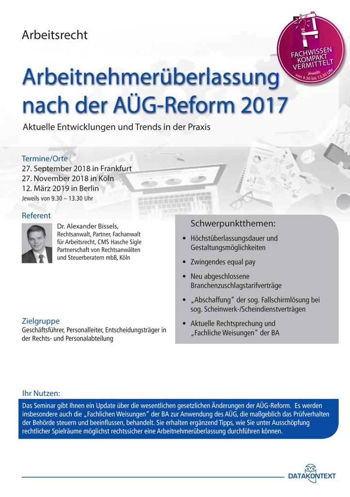 Arbeitnehmerüberlassung nach der AÜG-Reform 2017
