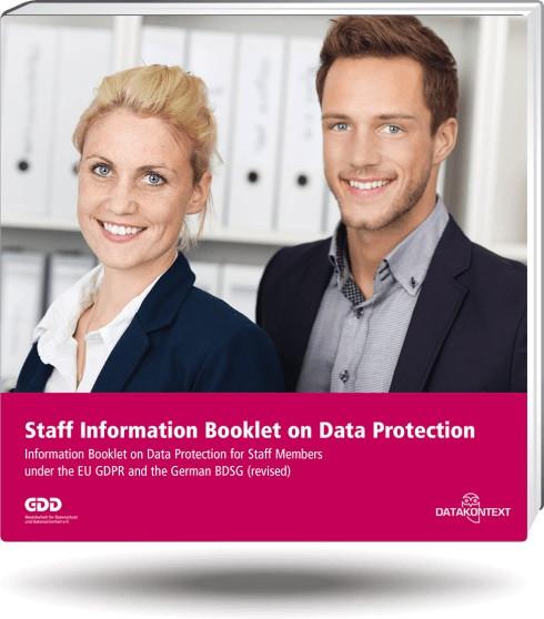 Mitarbeiterinformation Datenschutz  (englische Ausgabe)
