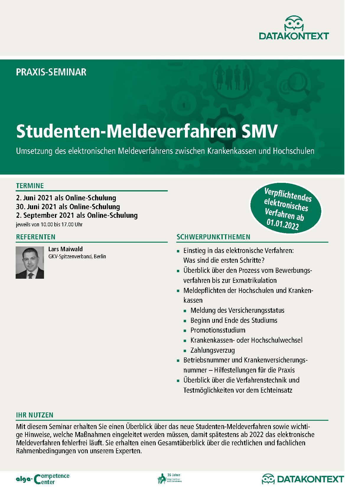 Studenten-Meldeverfahren SMV