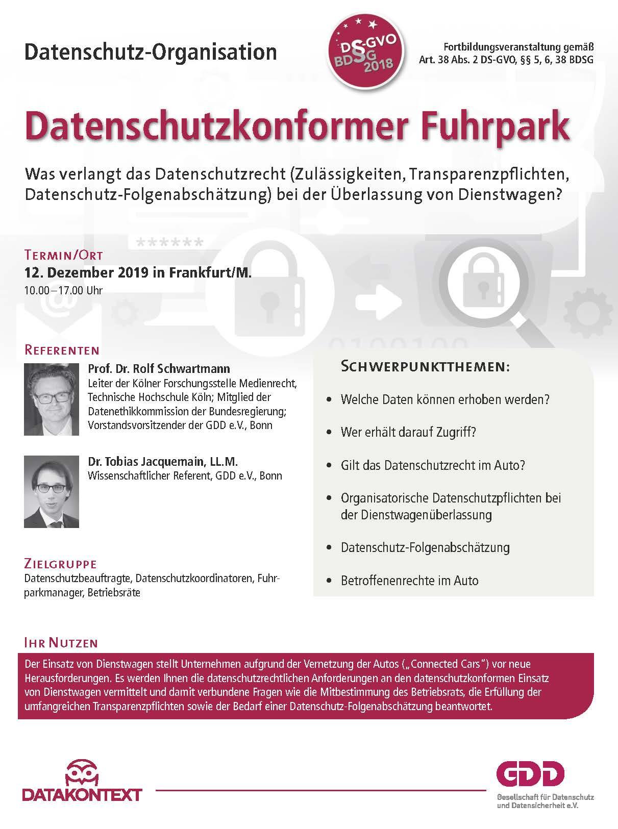 Datenschutzkonformer Fuhrpark