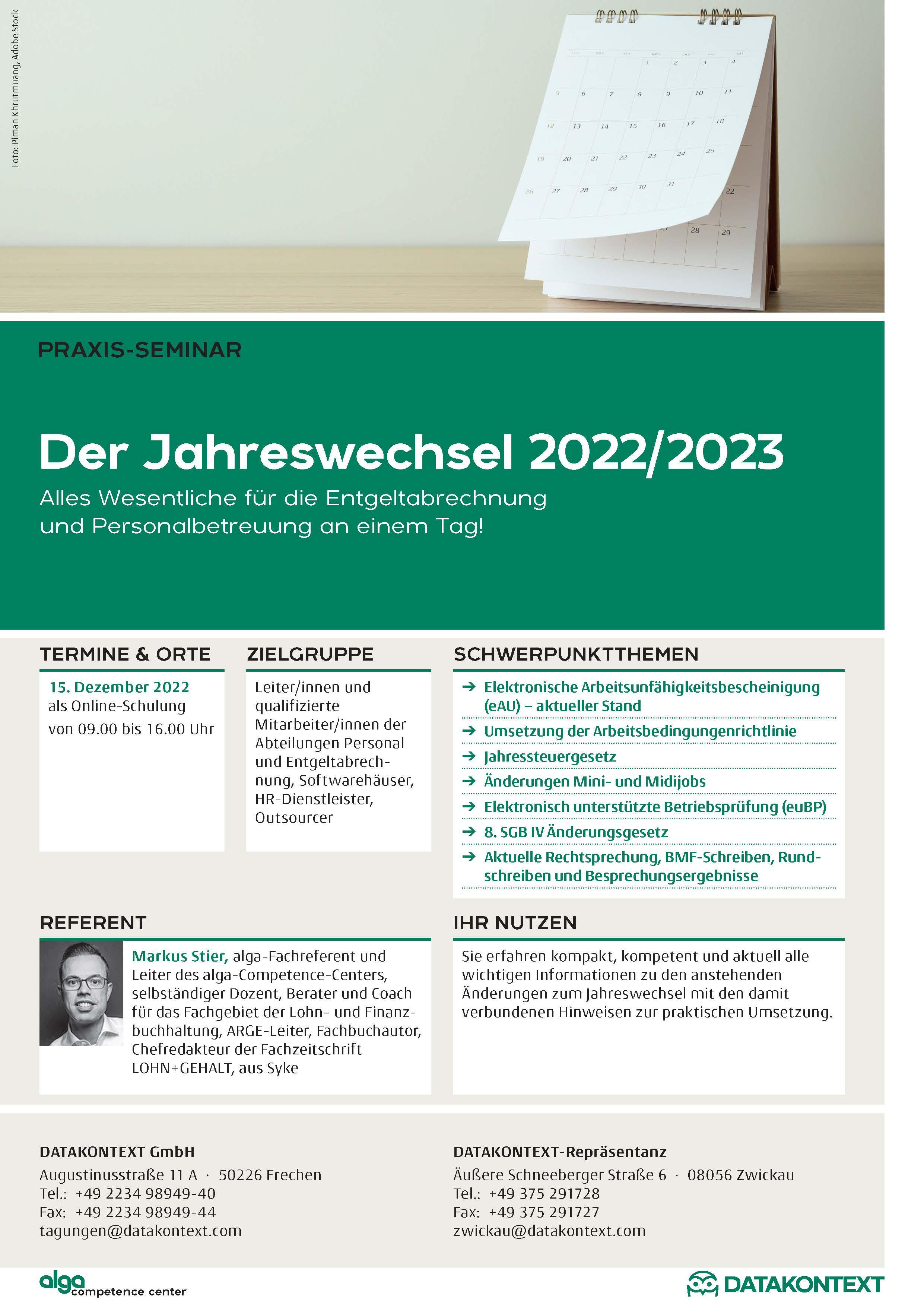 Der Jahreswechsel 2021/2022
