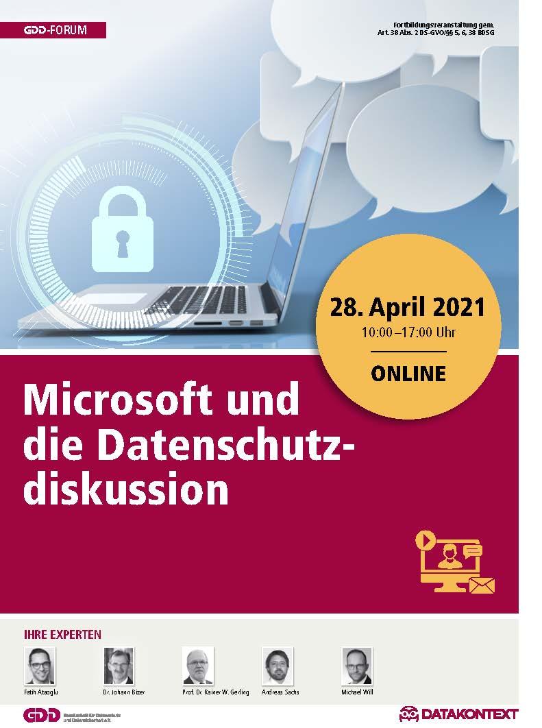 GDD-Forum: Microsoft und die Datenschutzdiskussion
