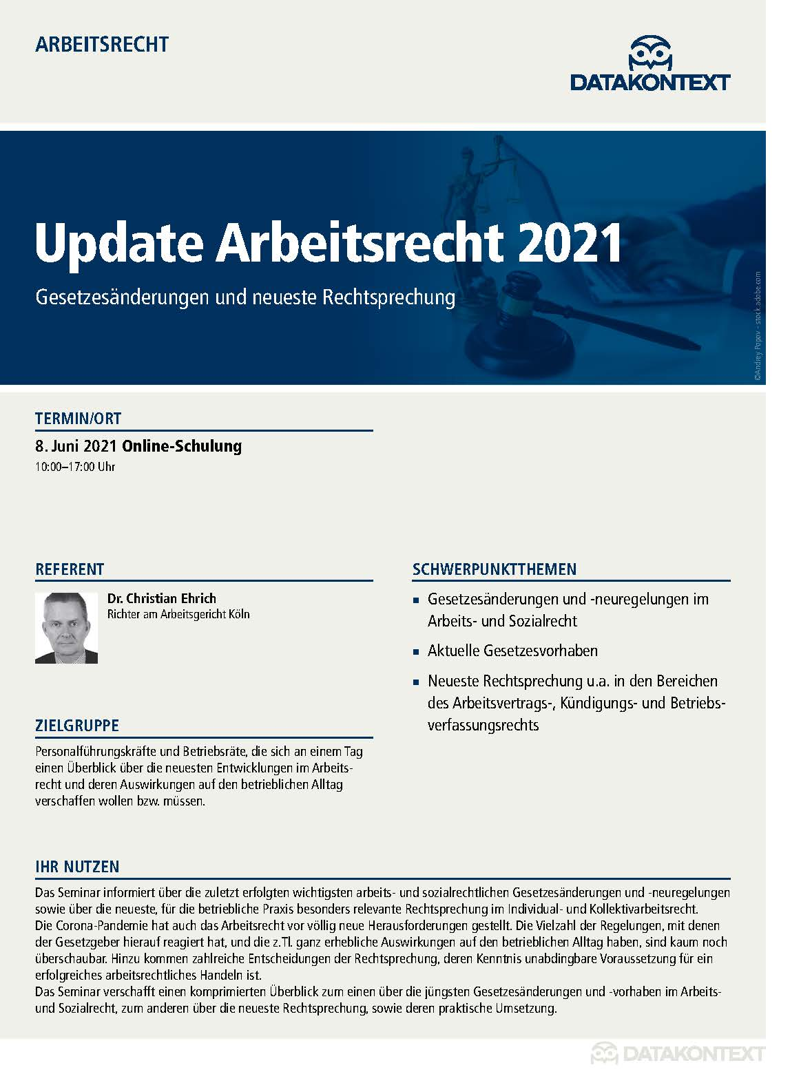Update Arbeitsrecht 2021