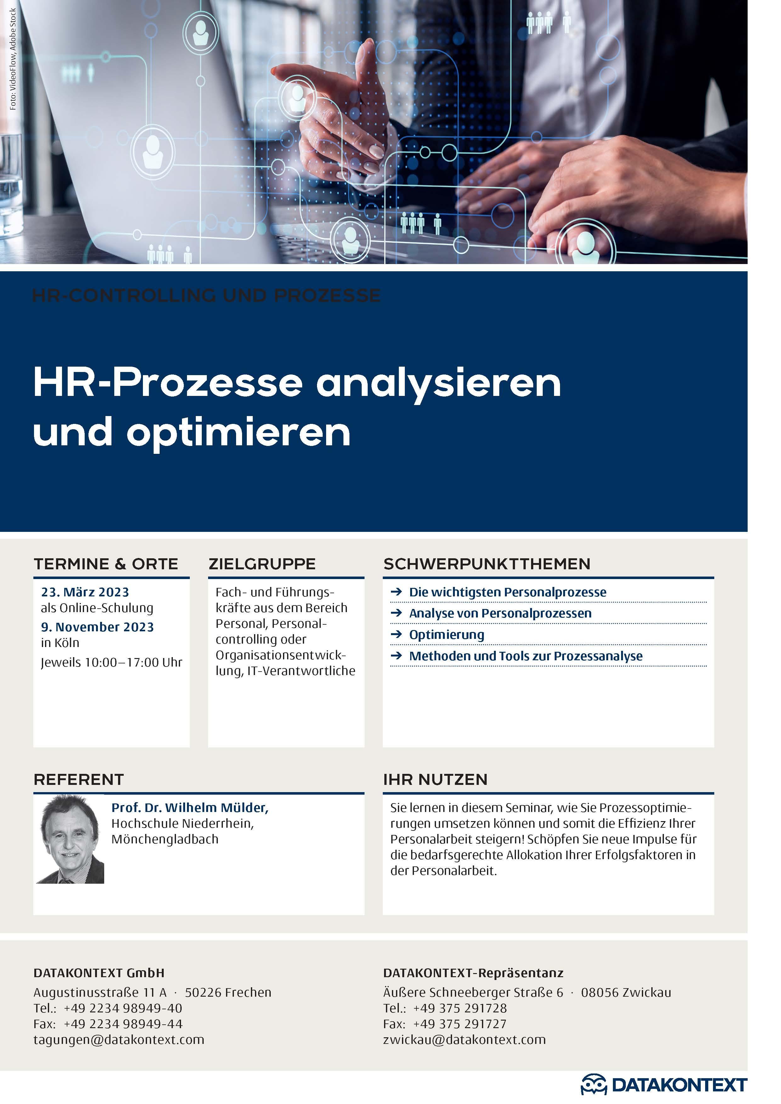 HR-Prozesse analysieren und optimieren-Termin 2020