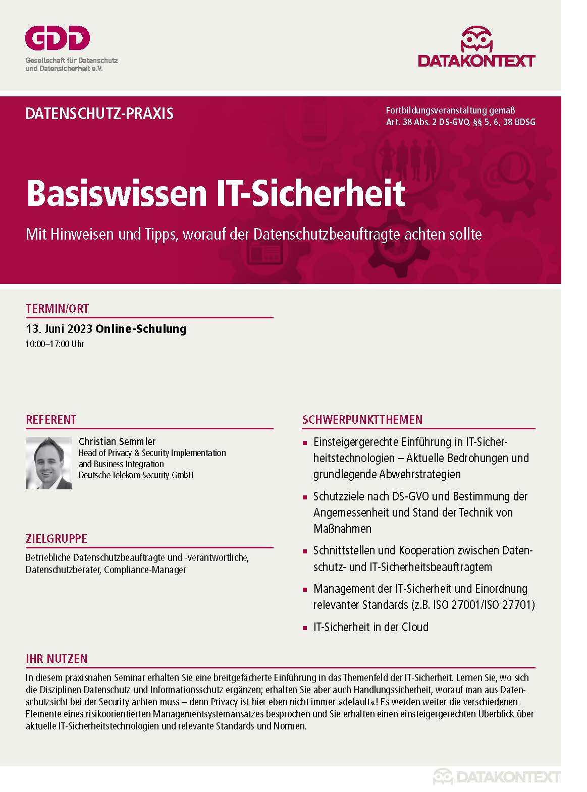 Basiswissen IT-Sicherheit