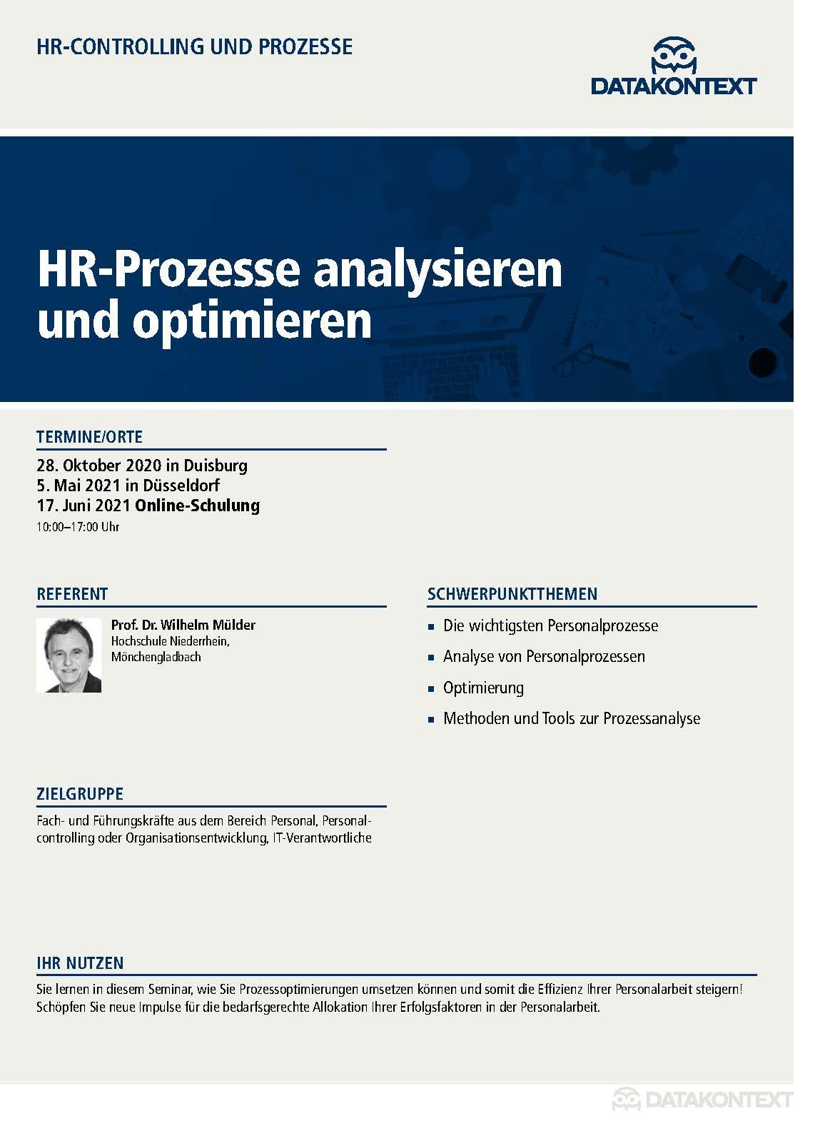 HR-Prozesse analysieren und optimieren