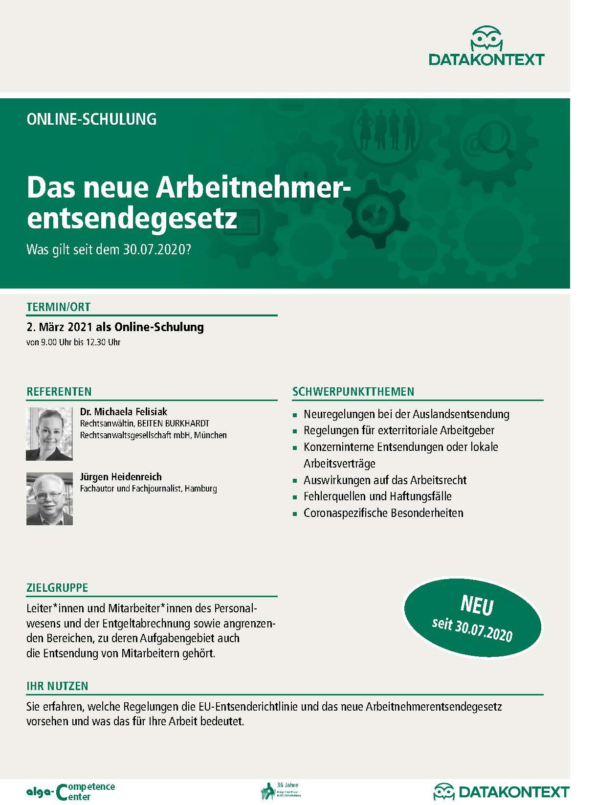Online-Schulung: Das neue Arbeitnehmerentsendegesetz