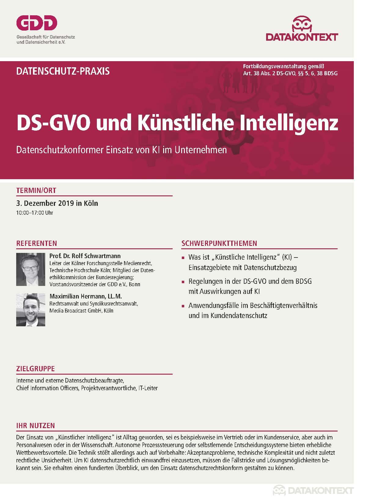 DS-GVO und Künstliche Intelligenz